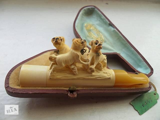 Антикварный старинный мундштук с наконечником из янтаря 19 века.- объявление о продаже  в Прилуках