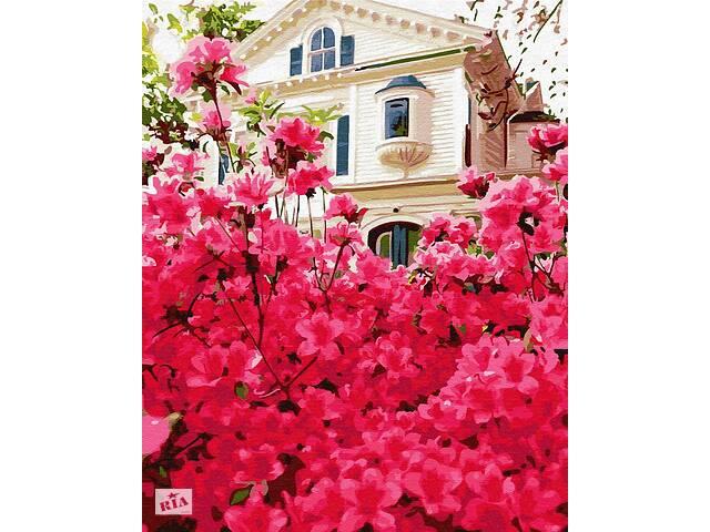 "Картина по номерам BrushMe ""Дом в цветах"" 40х50см GX30186- объявление о продаже  в Дубно"