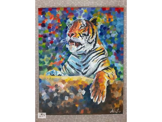 продам Картина маслом. 40Х50 Тигр бу в Запорожье