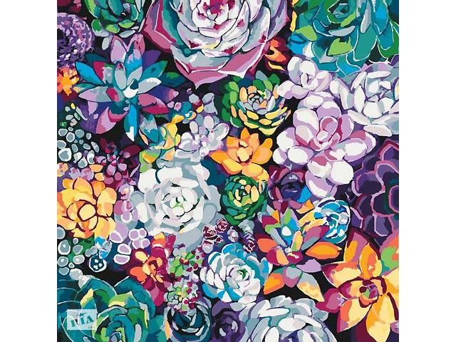 """продам Картина по номерам Идейка """"Волшебные цветы"""" 40х40см бу в Дубно"""