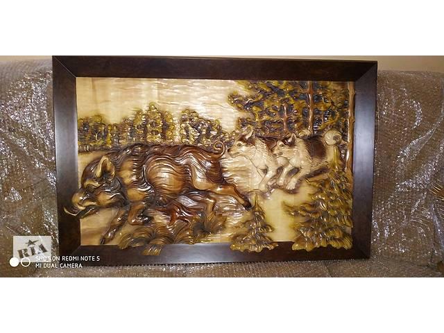 """купить бу Картина из дерева """"Кабан и лайки"""" в Ровно"""