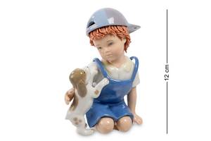Статуэтка Pavone Мальчик с собачкой 12 см 1104579