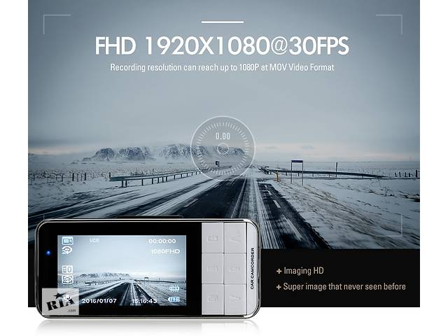 бу Anytek AT66A Оригинальный Автомобильный Видеорегистратор FULL HD. Гарантия. Модель 2017 года. Отправляем наложенным в Киеве
