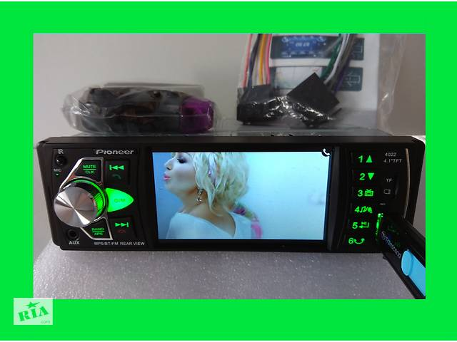 """Автомагнитола Pioneer 4020 Bluetooth - 4,1"""" - экран + ПУЛЬТ НА РУЛЬ- объявление о продаже  в Киеве"""