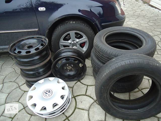 купить бу Б/у диск с шиной для легкового авто Volkswagen в Ахтырке