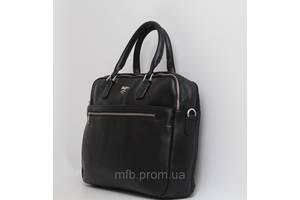 Мужская кожаная (кожа искусственная) сумка / портфель с отделом под ноутбук