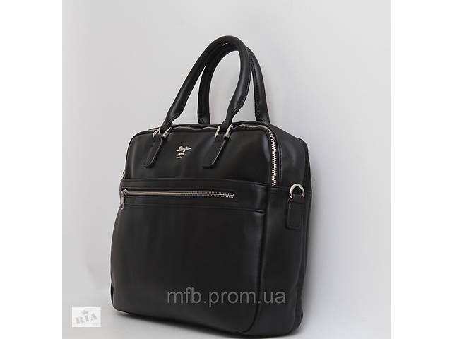 Мужская кожаная (кожа искусственная) сумка / портфель с отделом под ноутбук- объявление о продаже  в Одессе