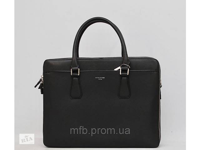 Мужской кожаный (кожа искусственная) портфель / сумка с отделом под ноутбук David Jones / Дэвид Джонс- объявление о продаже  в Дубно