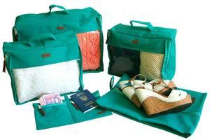Набор дорожных сумок в чемодан 5 шт Organize лазурь P005SKL34-176405