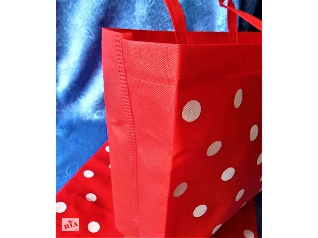 бу Сумка красная в горох горошек прогулку на пляж море отдых пляжная подарок 8 марта в Херсоне