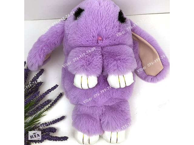 d54f36c78681 купить бу Сумка рюкзак кролик меховой сиреневый, из искусственного меха как  игрушка для девушки.