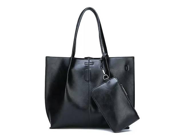 Сумка жіноча велика шоппер чорна жіноча шкіряне на плече нова- объявление о  продаже в Вінниці 4c1e6da390624