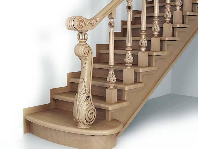 продам Балясины, заходные столбы, поворотные сегменты перил для деревянных лестниц бу в Белой Церкви (Киевской обл.)