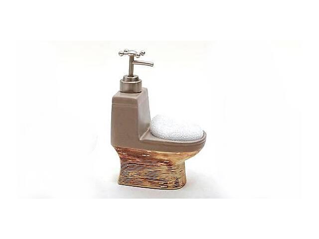 бу Дозатор Bona-105 для жидкого мыла с кухонной губкой Бежевый (psg_BD-853-105)  в Україні
