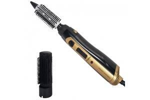 Фен щетка расческа стайлер для укладки волос 2в1 1000W Lexical LAS-5201