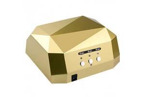 Гибридная сенсорная лампа Diamond Led+Ccfl для маникюра 36Вт Gold (bks_01960)