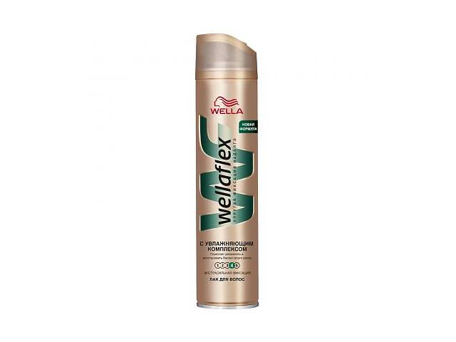 Лак для волос WellaFlex с увлажняющим комплексом Экстра сильная фиксация 250 мл (4056800012404)