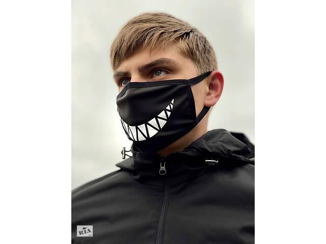Маска мужская   женская защитная многоразовая  тканевая OHRA XX black- объявление о продаже  в Харькове