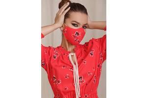 Защитная маска с карманом многоразовая