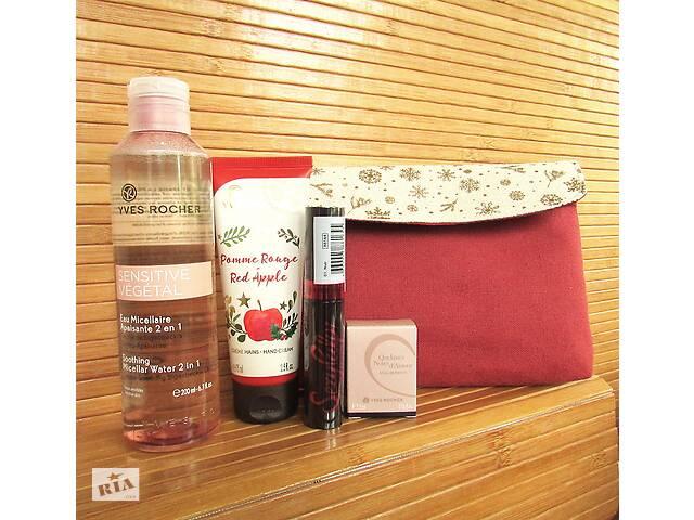Подарочный набор декоративной косметики Ив Роше Yves Rocher и косметичка из льна
