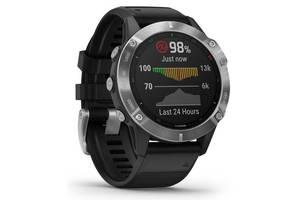 Спортивные часы Garmin Fenix 6 Silver with Black Band (010-02158-00)