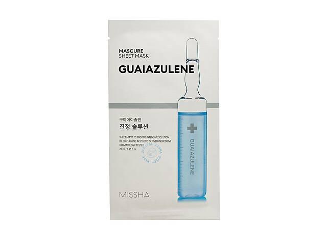 продам Успокаивающая маска для лица Missha Mascure Calming Solution Sheet Mask Guaiazulene, 27 мл бу в Киеве