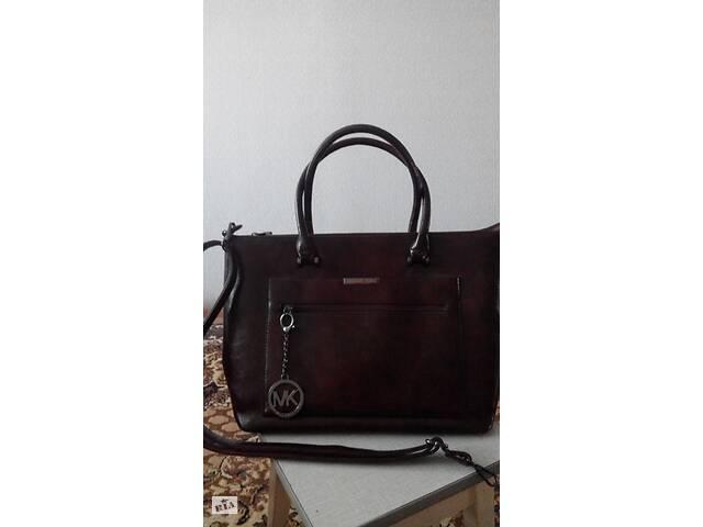 купить бу Женская стильная сумка-шоппер в стиле Майкл Корс, бордовая в Кропивницком (Кировоград)