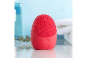 Звуковая массажная щетка для лица Xiaomi Mijia Sonic facial cleansing brush Red