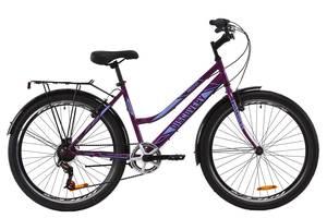 "Велосипед ST 26"" Discovery PRESTIGE WOMAN Vbr с багажником зад St, с крылом St 2020 (антрацитово-синий (м))"