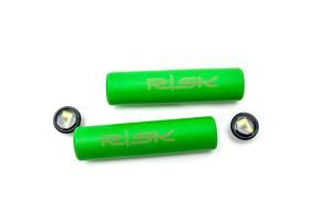 Грипсы гелевые L130mm салатовый RISK Silica Gel