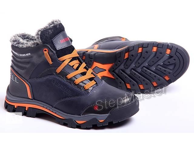 купить бу Ботинки кожаные зимние Merrell синие в Вознесенске