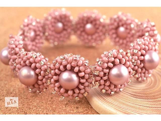 продам Браслет розовый на бусинах SWAROVSKI на резинке бу в Мелитополе