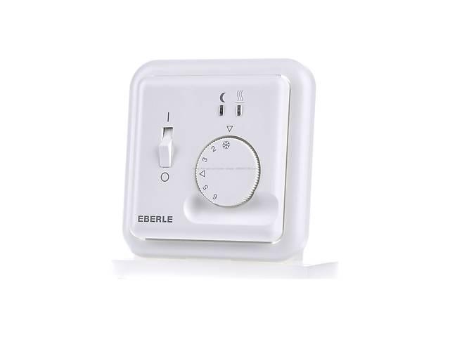 купить бу Терморегулятор Eberle Fre F2A-50 механический для теплого пола (с кнопкой выключения питания) Белый в Киеве