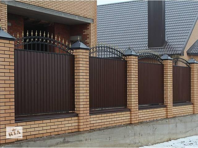 купить бу Забор из профнастила, готовые секции на забор. Доставка по Украине! в Ладыжине