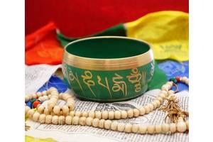 9070021 Чаша поющая литая пр-во Непал Зелёная