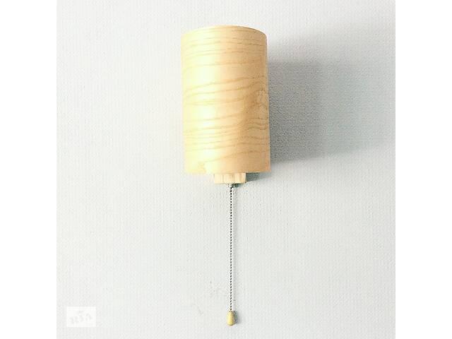 бу Бра настенный светильник с выключателем в стиле лофт деревянный Woodidea Bra Eco T1 Бежевый (wdi_t1) в Киеве