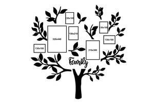 Декор Семейное дерево Семейная фоторамка настенная 1.5 м (avb_fam2)