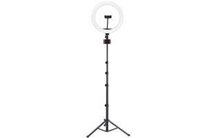 Держатель с кольцевым освещением кольцевая LED лампа Joyroom JR-ZS228 AKL03 Черный (gr_014809)