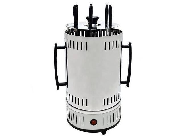 купить бу Домашняя электрическая шашлычница Domotec Ms-7782 1000 Вт белая  электрогриль электрошашлычница для дома в Харькове