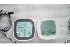 Електронний термощуп і таймер, з сенсорним екраном