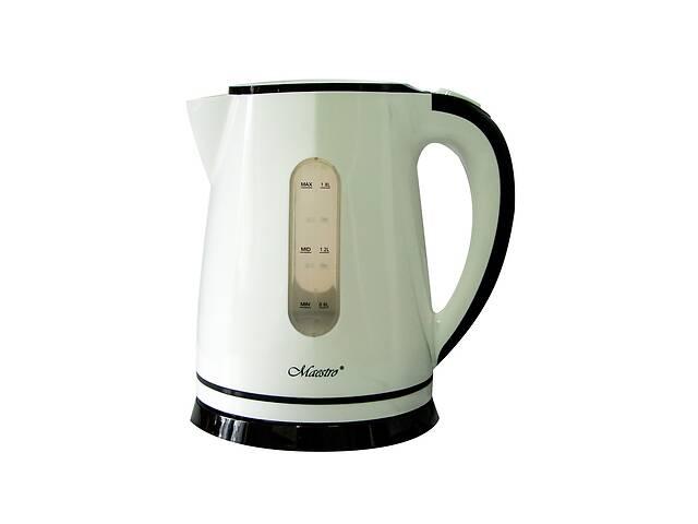 бу Электрический чайник Maestro Белый с черным в Харкові