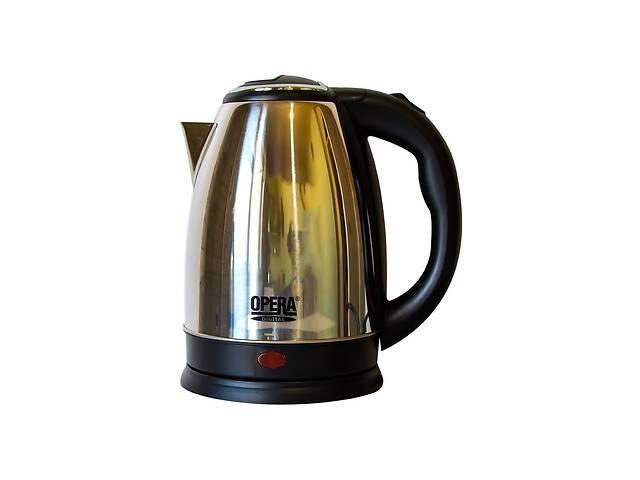 купить бу Электрический чайник OPERA 2 л Черный с серебристым в Харкові