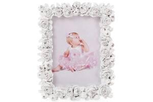 Фоторамка Sweet White Белые Розы для фото 9х13см (psg_BD-493-714)