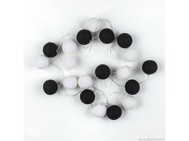 бу Гирлянда светодиодная Беспроводная GTM 20 шариков, 3,2 метра черно-белая (55619-FL) в Киеве