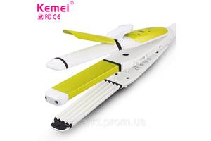 Kemei КМ-2208 для укладки волос 3в1 плойка гофре утюжок