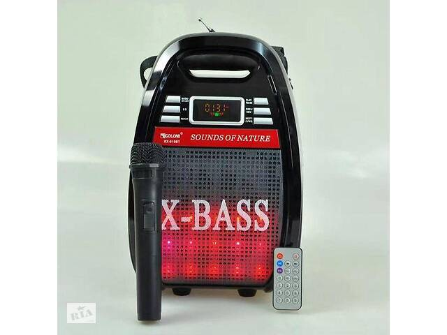 бу Колонка комбик Bluetooth mp3 радиомикрофон пульт цветомузыка Golon RX-810 BT (par_RX 810BT) в Киеве