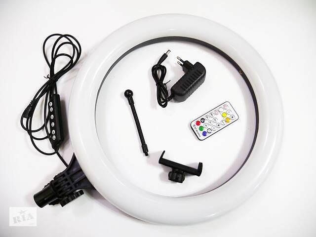 Кольцевая LED лампа RGB MJ38 38см 220V 1 крепл.тел USB + пульт- объявление о продаже  в Одессе