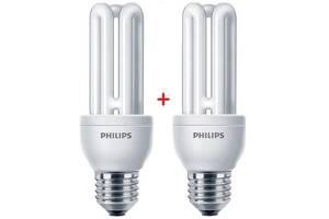 Комплект ламп энергосберегающих Philips E27 14W 220-240V 2700K Genie (1+1)