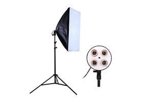 Комплект Видео софтбокс 50х70 + студийная стойка 2.0 м постоянный свет