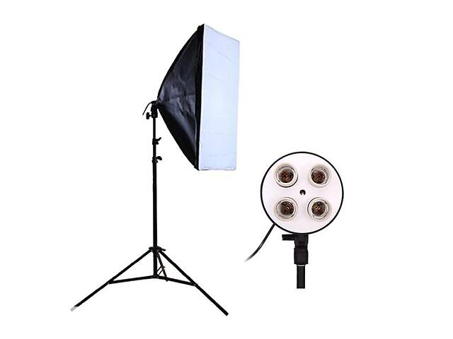 купить бу Комплект Видео софтбокс 50х70 + студийная стойка 2.0 м постоянный свет в Днепре (Днепропетровск)